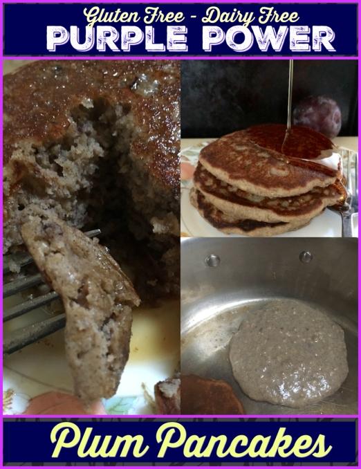 Purple Power Plum Pancakes | Swirls and Spice | #glutenfree #dairyfree