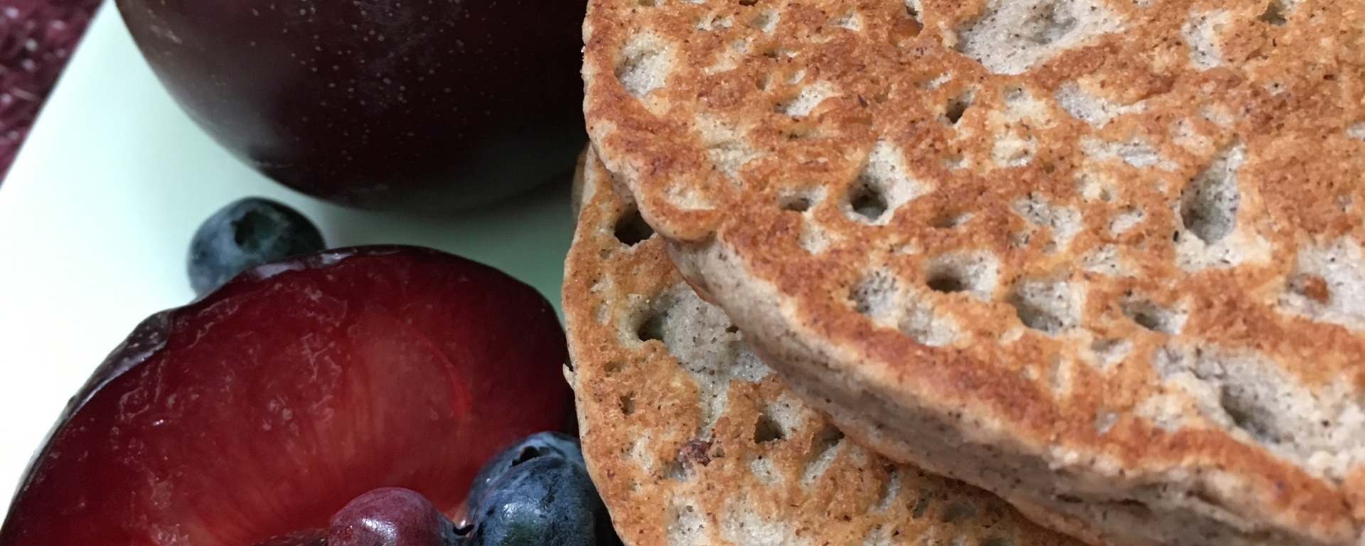 Purple Power Plum Pancakes | Swirls and Spice