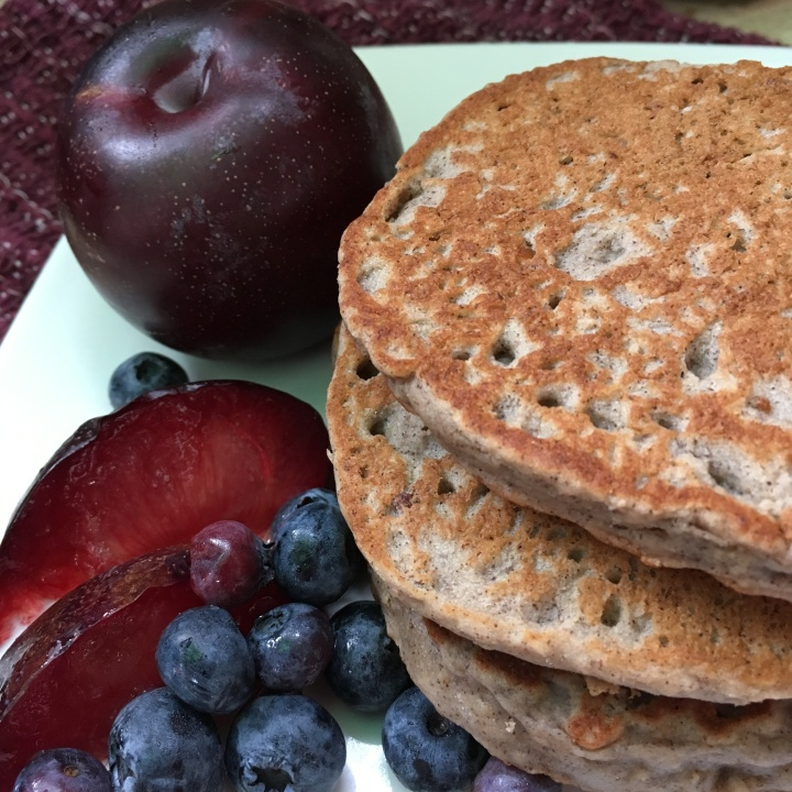 Purple Power Plum Pancakes | Swirls and Spice
