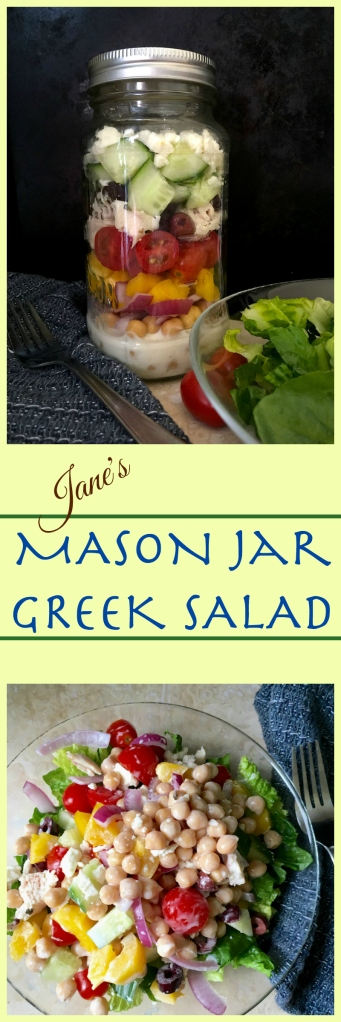 Mason Jar Greek Salad | Swirls and Spice | #grainfree