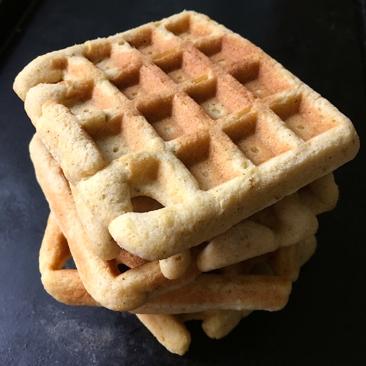 Cornbread Waffles (Gluten-Free Option) | Swirls and Spice
