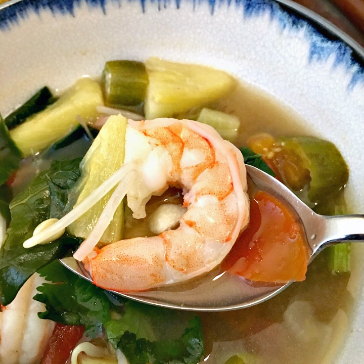 Vietnamese Sour Soup with Shrimp & Pineapple | Swirls and Spice