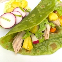 Pork and Pineapple Tacos with Spinach Tortillas | Swirls and Spice