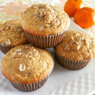 Orange Oat Muffins | Swirls and Spice #glutenfree
