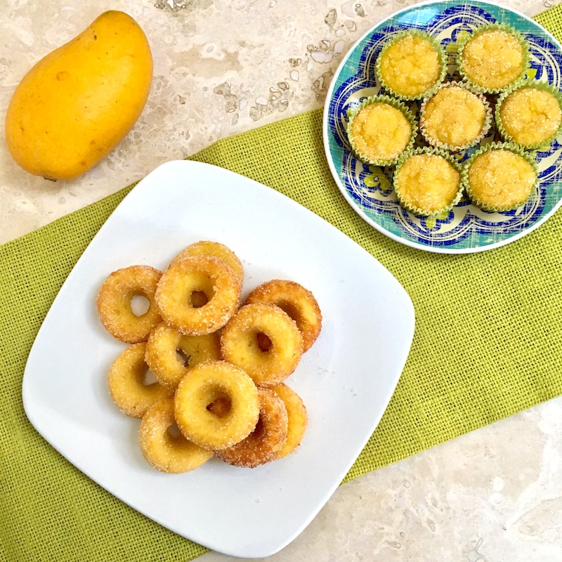 Flourless Mango Mini Muffin + Donuts | Swirls and Spice