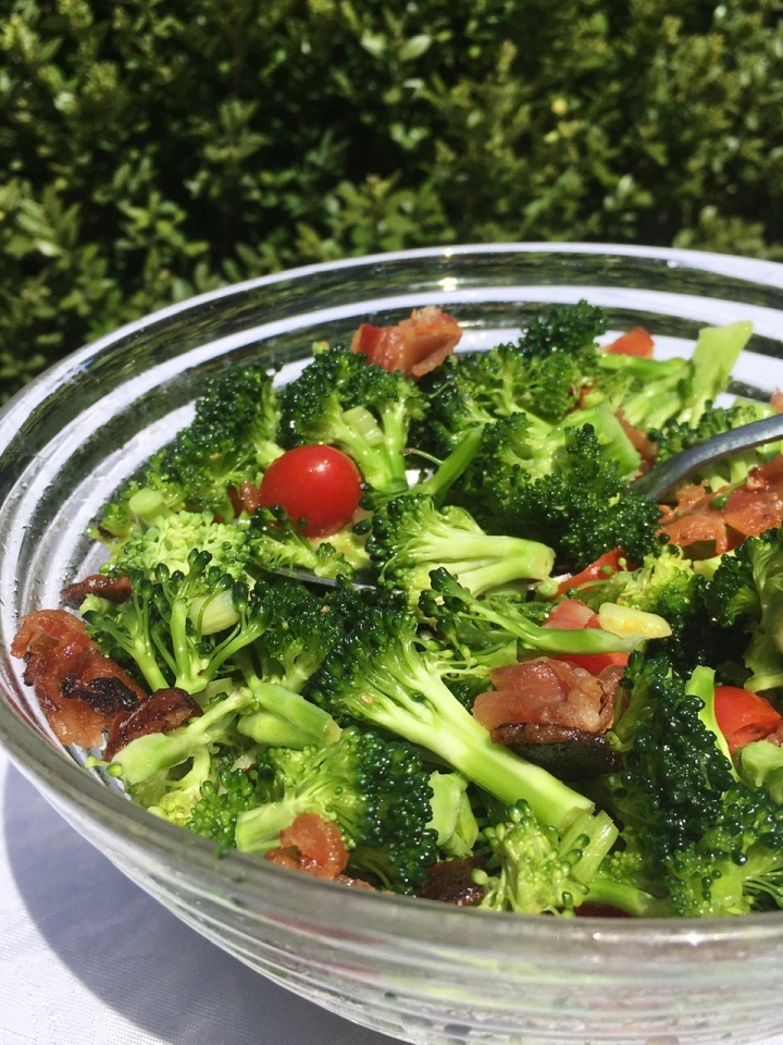 Broccoli Bacon Salad by Swirls and Spice